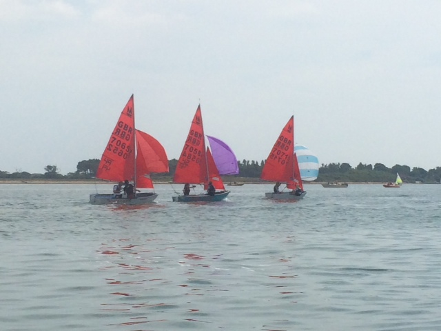 Mirrors racing in a light wind