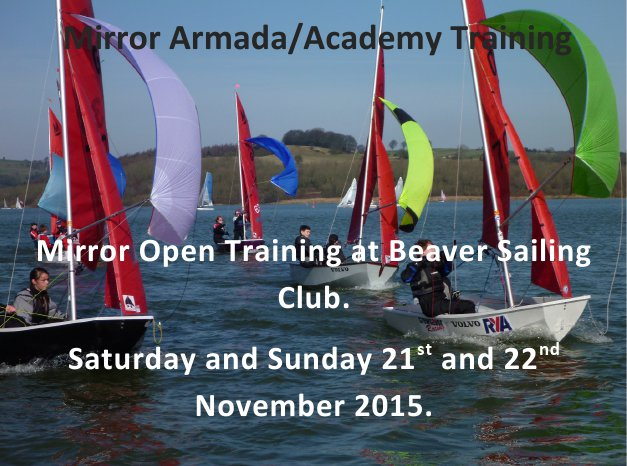 Mirror dinghies racing with spinnakers flying
