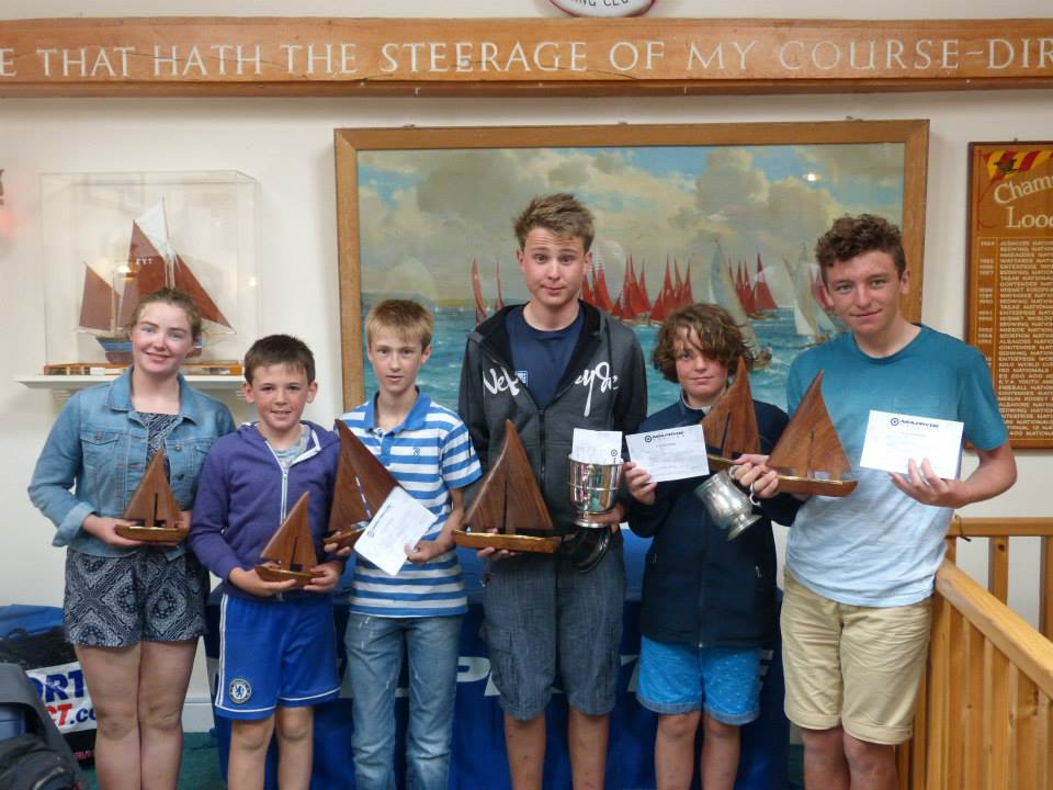 Prize winners with their trophies