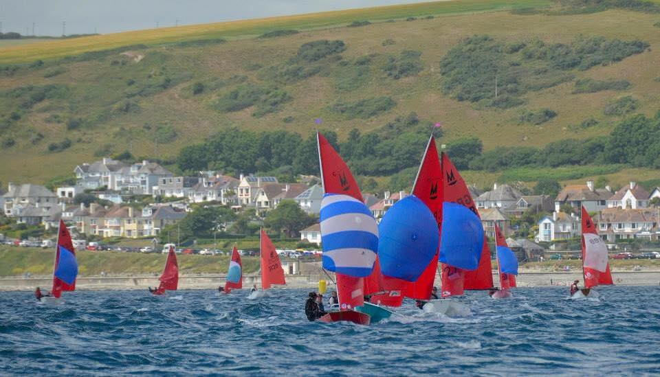 Mirrors racing with West Looe in the background