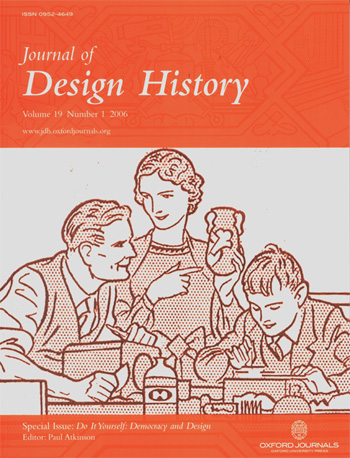 Cover of the journal showing a family involved in DIY