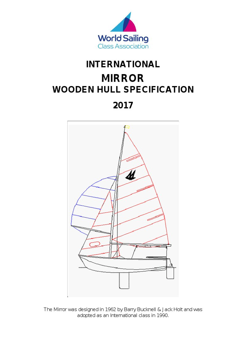 Front page of the 2017 Wooden Boat Specification