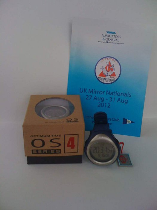 A picture of a new sailing watch and event booklet