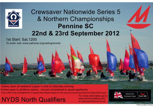 poster for Crewsaver Nationwide and Northern Area Championships