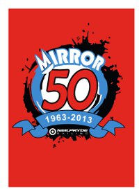 Mirror 50th year (1963 - 2013) logo on a red background