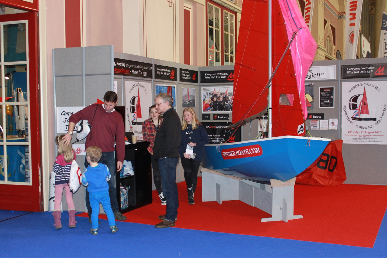 The Mirror Class Association stand at the 2016 Dinghy Show