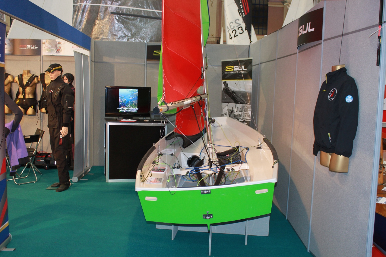 A Mirror on the Gul stand at the 2017 Dinghy Show