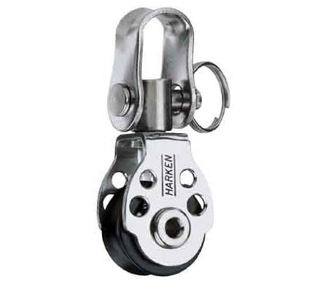 A small ball bearing block with a swivel