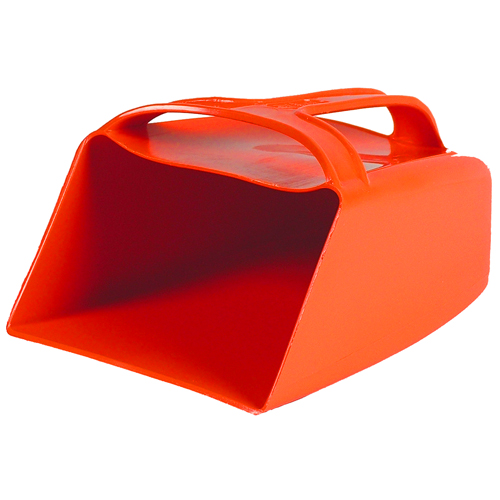 Small orange plastic hand bailer