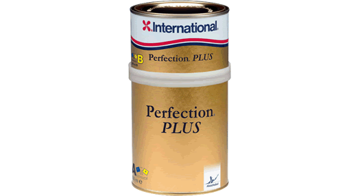 A tin of International Perfection Plus 2-pack varnish