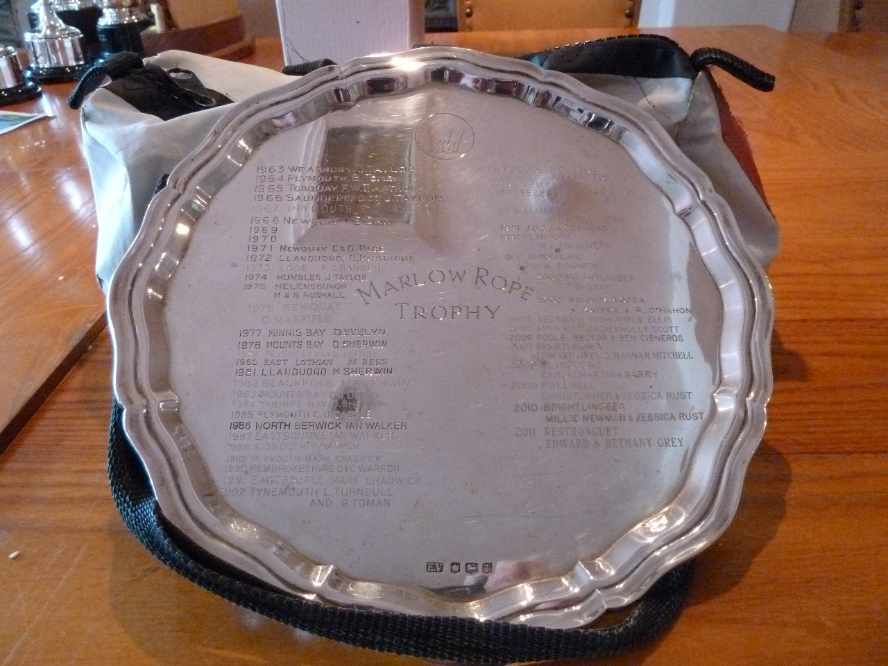 A silver plate